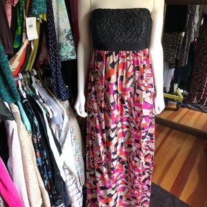 Trina Turk strapless full length dress size 12